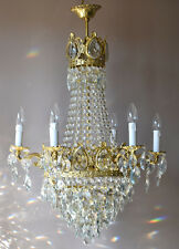 EMPIRE Antique French Vintage LUXURY Crystal Chandelier Lamp Home old Lighting