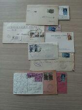 STORIA POSTALE 1946/54 REPUBBLICA LOTTO 10  BUSTE AFFR DIV. D 07623