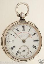 ENGLISCHE TASCHENUHR VON 1899 - J. G. GRAVES SHEFFIELD - 925er SILBER
