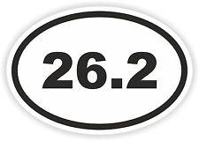 Marathon Oval pegatina 26,2 Runner Milla Km De Casco Para Bicicleta Auto Camión Barco parachoques