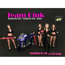 1/18 American Diorama TEAM PINK-COMPLETE SET OF 4 -for your garage/shop AD-77438