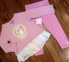 JUICY COUTURE BABY GIRLS BRAND NEW 2Pc PINK DRESS LEGGING SET Size 12-18M, NWT