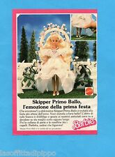 TOP989-PUBBLICITA'/ADVERTISING-1989- MATTEL- SKIPPER PRIMO BALLO