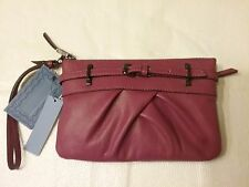 Vera Wang Leather Grab Wristlet/CLUTCH BAG IN FUCHSIA/PINK BNWT FReE ShiP