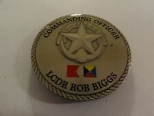 "CHALLENGE COIN COMMANDING OFFICER LCDR ROB BIGGS ""WARRIOR NATION"""
