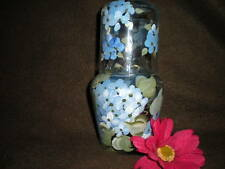 HAND PAINTED BLUE HYDRANGEAS   BEDSIDE CARAFE AND CUP SET