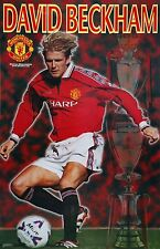 2000 David Beckham Manchester United Original Starline Poster OOP