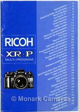 Ricoh XP-R Camera Manual + Pocket Guide, More Instruction Books Listed