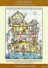 BOTHY THREADS CUT THRU NORTH POLE HOUSE CHRISTMAS COUNTED CROSS STITCH KIT - NEW