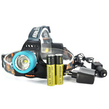 6000LM Zoomable XM-L T6 LED Headlamp Torch HeadLight Rechargeable 18650+Charger