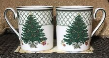 Mikasa Heritage Cabob Christmas Story Pair Of Mugs $51.98 Value