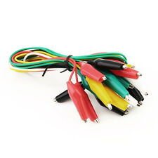 10pcs Double-ended Test Leads Alligator Crocodile Roach Clip Jumper Wire WP