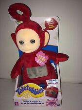 TELETUBBIES LAUGH & GIGGLE PO SOFT TOY COLOR  RED NEW IN BOX.