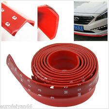 DIY Red 2.5m Auto Exterior Front Bumper Protection Valance Splitter Spoiler Lip