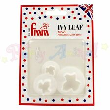 FMM Sugarcraft Ivy Leaf Cutter Set of 3 - cake decoration sugarcraft cutters