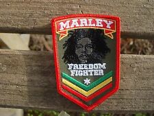 rasta freedom fighter patch iron  or sew on