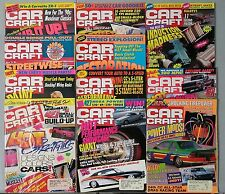 Car Craft Magazine 1990 - Near Complete Year 11 Issues - Hots Rods & Drag Racing