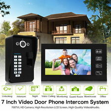 "7"" Fingerprint Recognition Video Door Phone Doorbell Home Intercom System US"