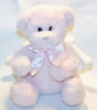 Pink  Angel TEDDY BEAR Stuffed Animals Plush Toy Pluffies off White Wings
