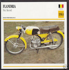 1963 Flandria 50cc Record Belgium Bike Motorcycle Photo Spec Info Stat Card
