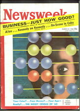 NEWSWEEK magazine M21 1960 BUSINESS '60 Census-KENNEDY-Stop Germany-PANAMA-CARS