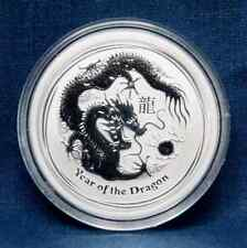 2012  AUSTRALIA  LUNAR  1/2 OZ. SILVER YEAR OF THE  DRAGON