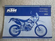 03 KTM 640 LC4 ADVENTURE CHASSIS SPARE PARTS MANUAL BOOK