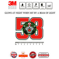 Marco Simoncelli 58 ciao marco Laminated 3M Reflective Decals Sticker F296