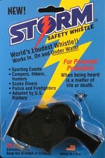Storm Whistle loudest whistle in world Black Safety