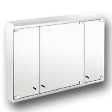Maxi Triple Door Cabinet Mirror Bathroom Wall Mounted Stainless Steel