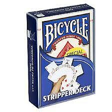 BLUE Bicycle STRIPPER Deck Playing Cards TAPERED force USPCC Magic Trick gaff