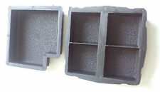 SET OF 2 CONCRETE PAVING INTERLOCKING GARDEN PATH SLAB BRICK FLOOR TILE MOULD