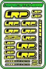 LRP ESC MOTOR BRUSHLESS RC 1/10 1/8 STICKERS LIPO BUGGY CAR DECAL YELLOW BLACK