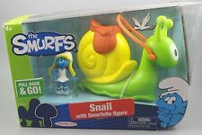 The Smurfs Snail with Smurfette Figure PULL BACK & GO
