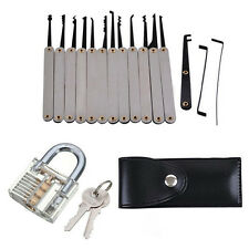 15pcs/set Lock Opener Kit Practice Padlock Locksmith Pick Torsion Tools Train