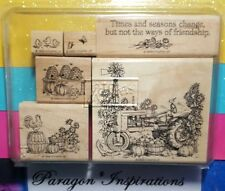 Stampin Up TIMES AND SEASONS Chicks Tractor Harvest Father's Day COMPLETE