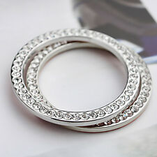 Switch Auto Interior Decorative 4cm Engine Start Ring Silver Button Diamond Ring