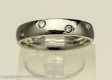PLATINUM Diamond Half Eternity Etoile Ring Band Sz. 6.75