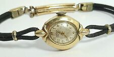 Vintage ladies Gruen Veri-Thin mechanical movement watch 10k gold filled #19ss