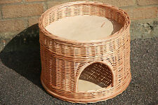 Wicker round 2 tier bunk baskets bed for pet cat kitten