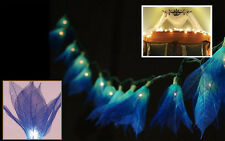 BLUE LEAF/BODHI FLOWERS STRING PARTY,FLORAL,DECORATIONS,TEEN GIRL ROOM LIGHTS