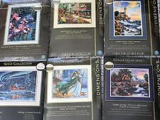 Cross Stitch Kit LOT 7 Dimensions Gold Cottage,Floral,Winter,Fairy,Lighthouse &