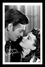 GONE WITH THE WIND - CLARK GABLE & VIVIEN LEIGH SIGNED & FRAMED PP POSTER PHOTO