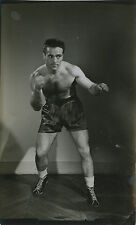 PHOTO VINTAGE : MARCEL CERDAN BOXE SPORT 1950 PORTRAIT 03 - tirage argentique