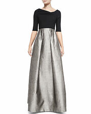 Black Halo EVE Hayley Runway Off Shoulder Empire Waist Gown Shimmering Skirt