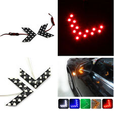 2x RED AMBER BLUE WHITE Green Panel Rearview Mirror Arrow LED Turn Signal Lights