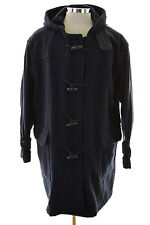 Valentino Mens Duffle Coat Size 46 XL Navy Blue Wool