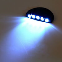Clip-On 5 LED Head Lights Lamp Cap Hat Camping Torch w/Clip Hand Free Hot FL3