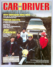 CAR & DRIVER Magazine VINTAGE AUTOMOBILE 1977 MARCH JEEP CHEROKEE FERRARI 308