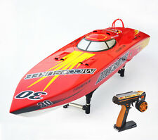 50Km/h Fiber Glass 2.4Ghz 26CC Engine Gas Monohull RC Racing Speed Boat P1 ARTR